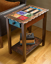 One-Drawer Sweetie by Wendy Grossman (Wood Side Table)