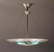 Emerald Bramble Bowl Pendant by George Scott (Art Glass Pendant Lamp)