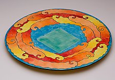 Yellow Submarine by Rod  Hemming (Ceramic Platter)