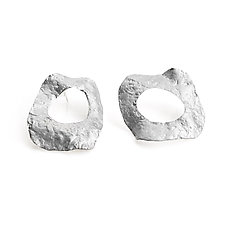 Sela Donut Earrings by Michal Lando (Silver Earrings)