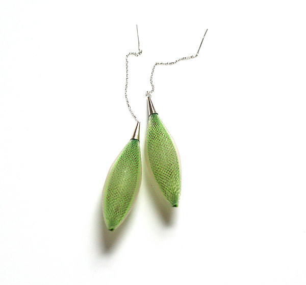 Ovulo Earrings Green