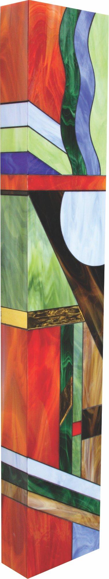 Tribal Totem I By Gerald Davidson Art Glass Wall