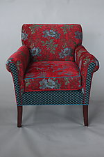 Salon Chair in Red Wine by Mary Lynn O'Shea (Upholstered Chair)