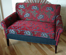 Salon Settee in Red Wine by Mary Lynn O'Shea (Upholstered Settee)