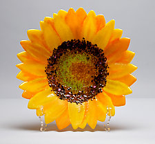 Sunflower Bowl by Anne Nye (Art Glass Bowl)