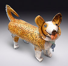 Corgi by Amy Goldstein-Rice (Ceramic Sculpture)