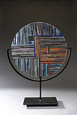 Circle #2 by Ernest Porcelli (Art Glass Sculpture)