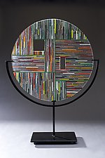 Circle #3 by Ernest Porcelli (Art Glass Sculpture)
