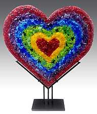 Heart Sculpture by Anne Nye (Art Glass Sculpture)