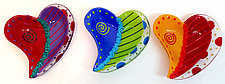 Doodle Heart Bowl by Anne Nye (Art Glass Bowl)