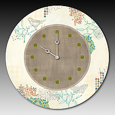 Journeys in Ecru Clock by Janna Ugone and Justin Thomas (Mixed-Media Clock)