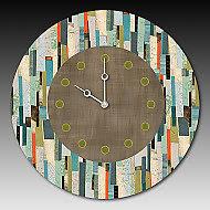Papers Clock by Janna Ugone and Justin Thomas (Mixed-Media Clock)