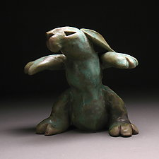 Warrior Bunny by Steve Murphy (Ceramic Sculpture)