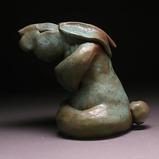 Namaste Bunny by Steve Murphy (Ceramic Sculpture)