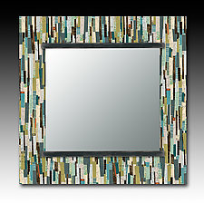 Papers Square Mirror by Janna Ugone and Justin Thomas (Mixed-Media Mirror)