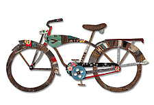 Bicycle Collection by Dolan Geiman (Metal Wall Sculpture)