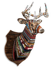 Great Plains Collection (Deer) by Dolan Geiman (Metal Wall Sculpture)