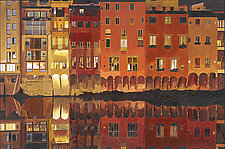 Night Along The Arno by Robert Steinem (Oil Painting)