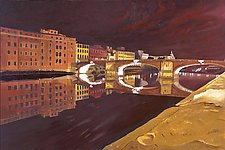 West Toward Pisa by Robert Steinem (Oil Painting)
