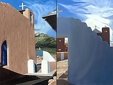 Taos Pueblo North & South by Robert Steinem (Oil Painting)