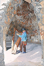 Guell Park Reverb by Robert Steinem (Oil Painting)