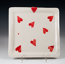 You are Awesome Porcelain Valentine Plate by Carol Barclay (Ceramic Platter)