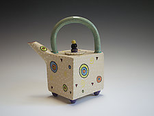 Circle Circle Teapot by Vaughan Nelson (Ceramic Teapot)