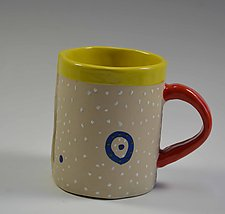 Blue Ring Mug by Vaughan Nelson (Ceramic Mug)