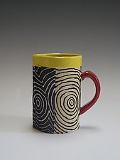 Half Optix Mug by Vaughan Nelson (Ceramic Mug)