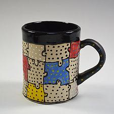 Puzzle Mug by Vaughan Nelson (Ceramic Mug)