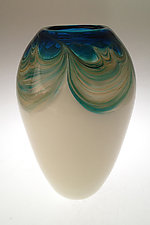 Oceana Seed Vase by Jennifer Nauck (Art Glass Vase)