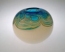 Oceana Pot by Jennifer Nauck (Art Glass Vase)