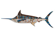 Blue Marlin by Dolan Geiman (Mixed-Media Wall Sculpture)