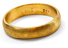 Burnished Gold Wedding Band by Nancy Troske (Gold Wedding Band)