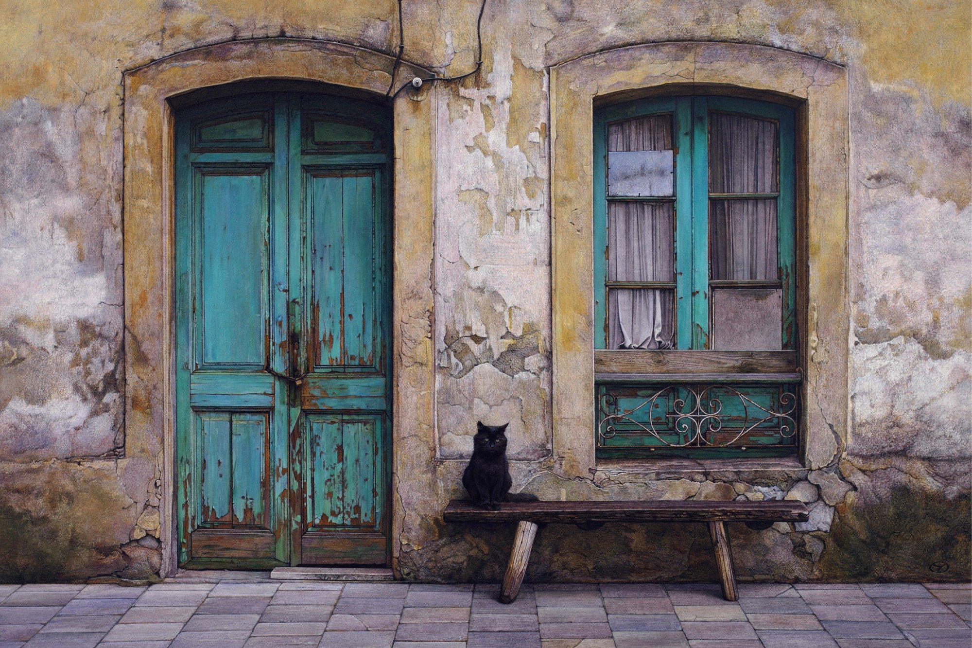 Black Cat By Christopher Young Giclee Print Artful Home