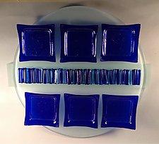 Cobalt Seder Plate I by Alicia Kelemen (Art Glass Seder Plate)