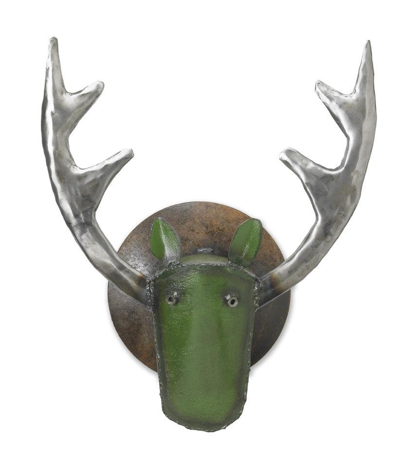 Large elk head by ben gatski and kate gatski metal wall for Large metal wall art