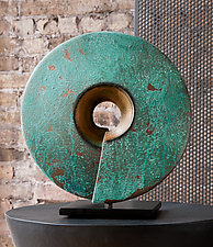 Verde Coil by Cheryl Williams (Ceramic Sculpture)