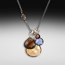 Mandarin Asymmetrical Necklace by Suzanne Q Evon (Silver & Stone Necklace)