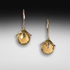 Mandarin Jambalaya Earrings by Suzanne Q Evon (Gold & Stone Earrings)