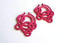 Loop Hoop Earrings by Maria  Eife (Nylon Earrings)