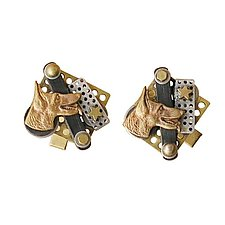 Collage Cuff Links by Thomas Mann (Metal Cuff Links)
