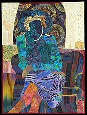 Woman Waiting I by Pamela Allen (Fiber Wall Art)