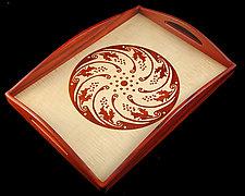 Horta Circle Tray by William Winfield (Wood Tray)