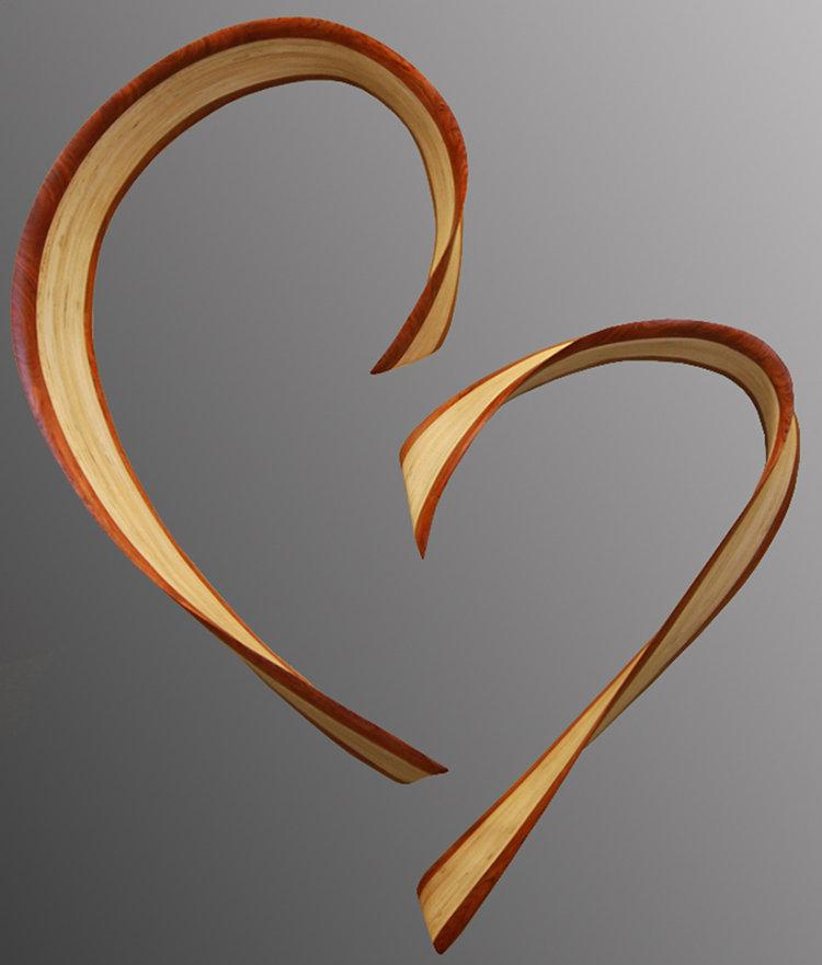 Chatham heart by kerry vesper wood wall sculpture for Wooden heart wall decor
