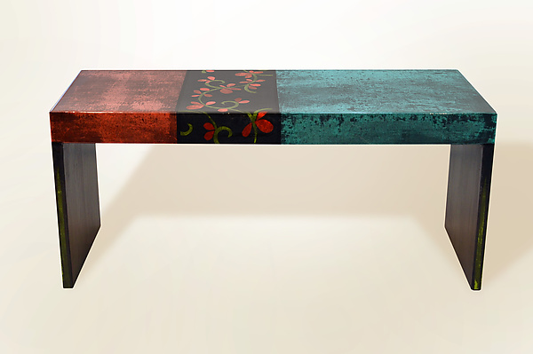 BellaBella Coffee Table in Paleteal Stain
