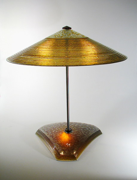 Gold Concentric Rings Table Lamp