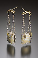 Cusco Earrings by Lisa Jane Grant (Gold & Silver Earrings)