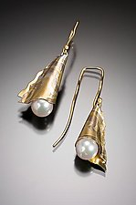 Vienna Pearl Earrings in Aspen by Lisa Jane Grant (Gold, Silver & Pearl Earrings)