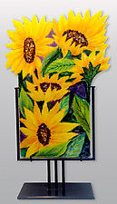Sunflower Melody by Anne Nye (Art Glass Sculpture)